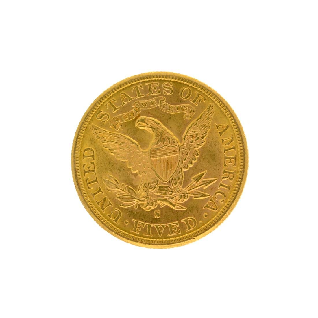 *1886-S $5 Liberty Head Gold Coin (DF) - 2