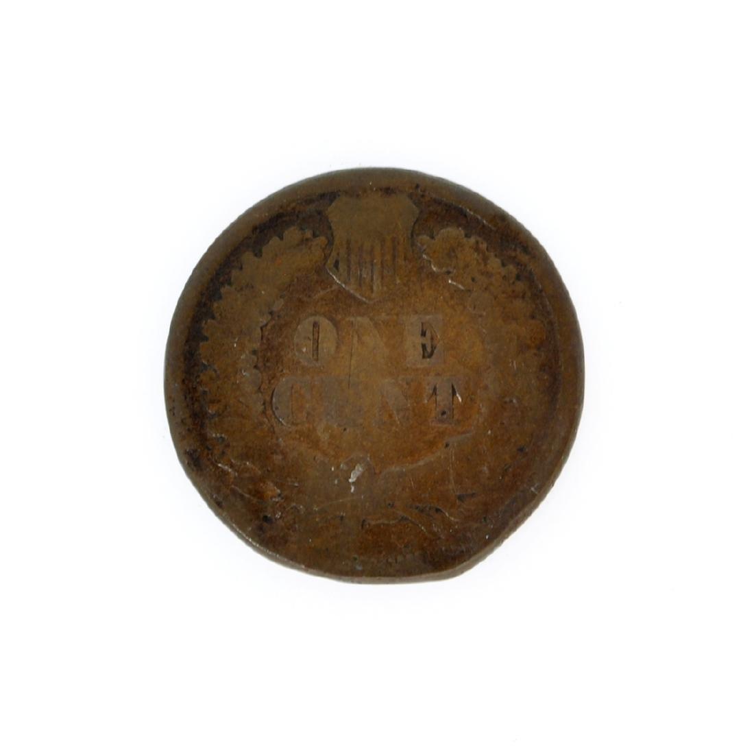 Rare 1877 Indian Cent Coin - 2