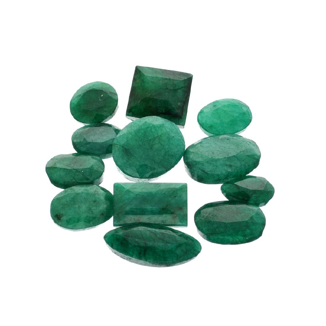 APP: 7.5k 100.60CT Various Shapes Green Emeral Parcel-