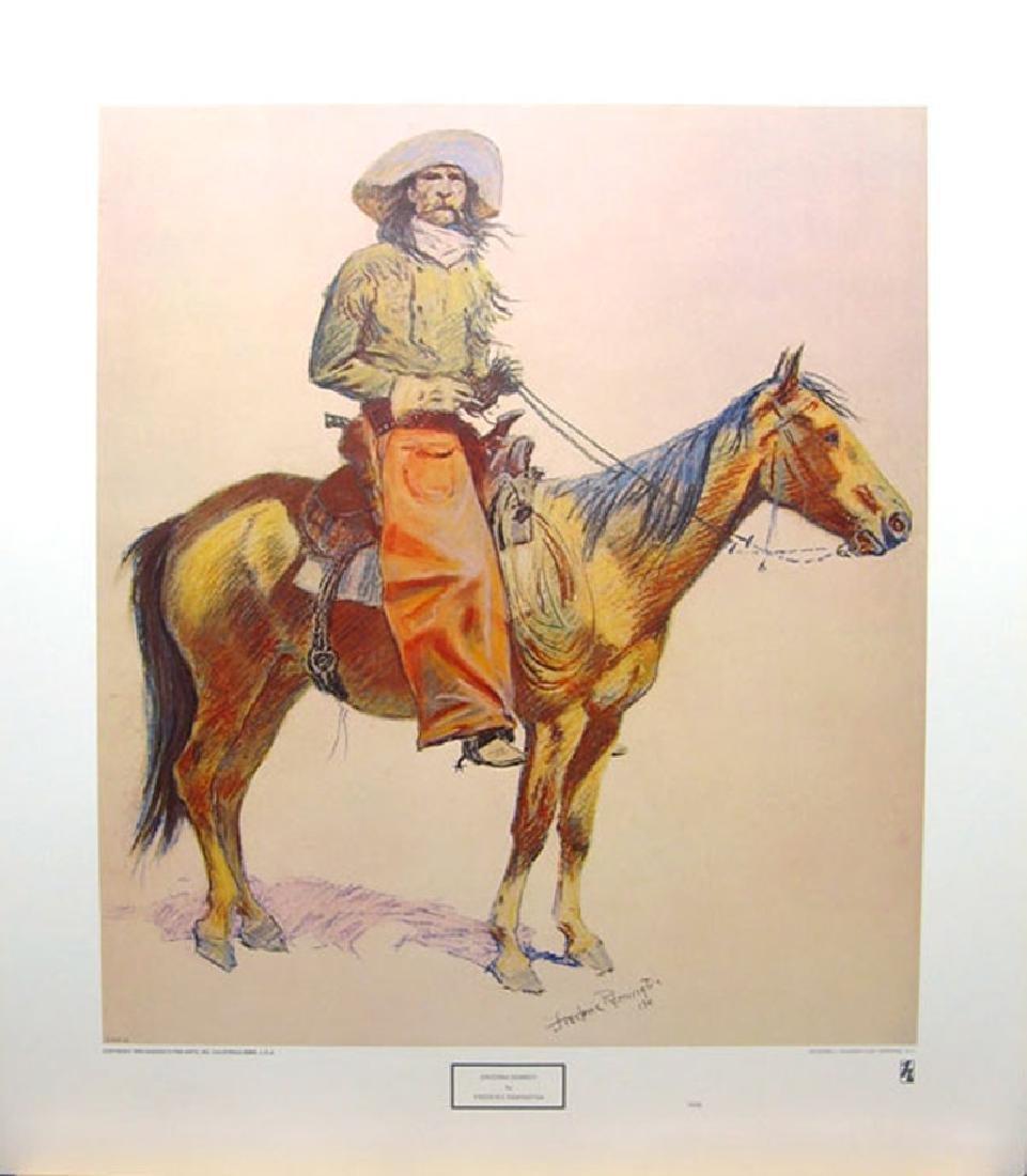 FREDERIC REMINGTON (After) Arizona Cowboy Print, 22.5''