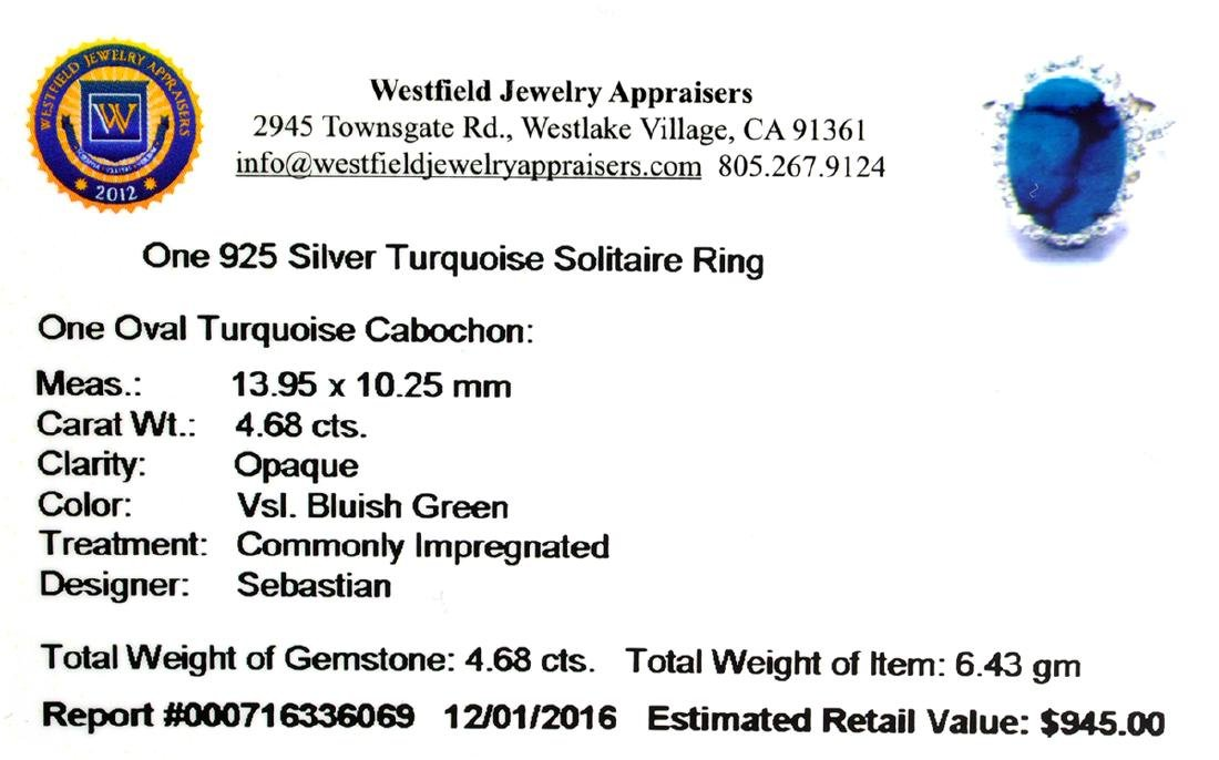 Fine Jewelry Designer Sebastian 4.68CT Oval Cut - 2
