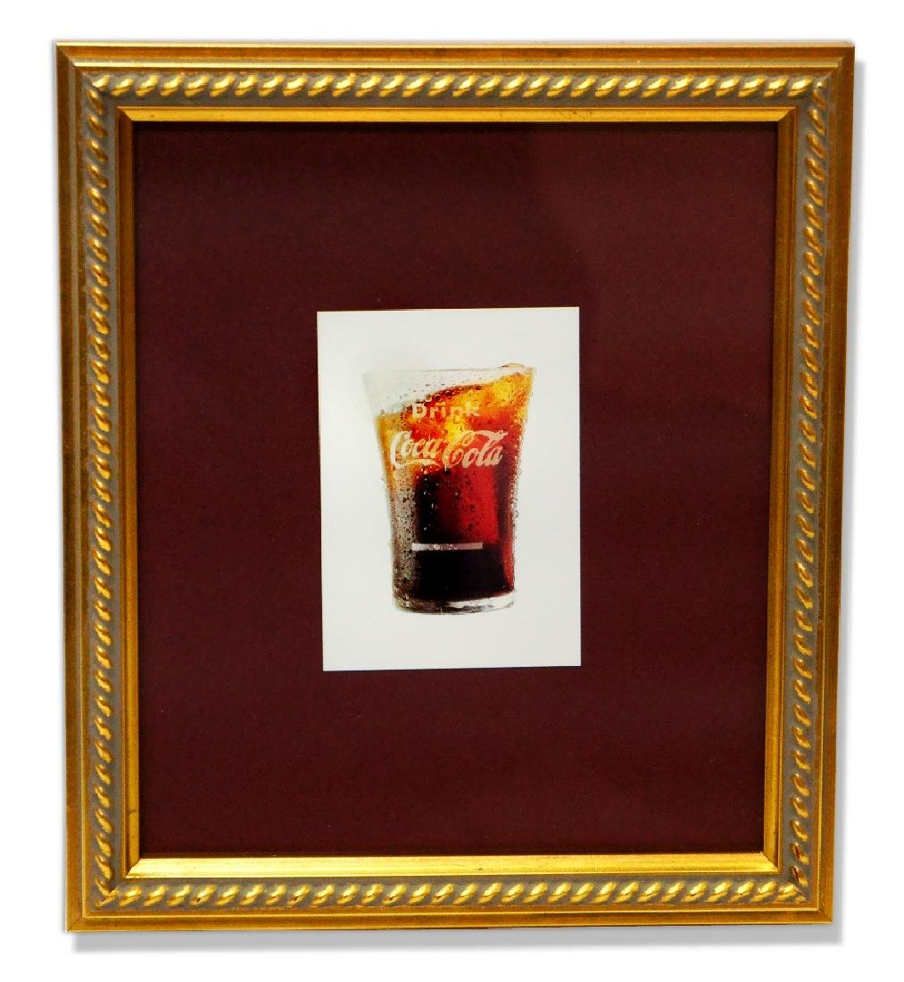 Museum Framed Coca-Coca Advertising  8.75x10