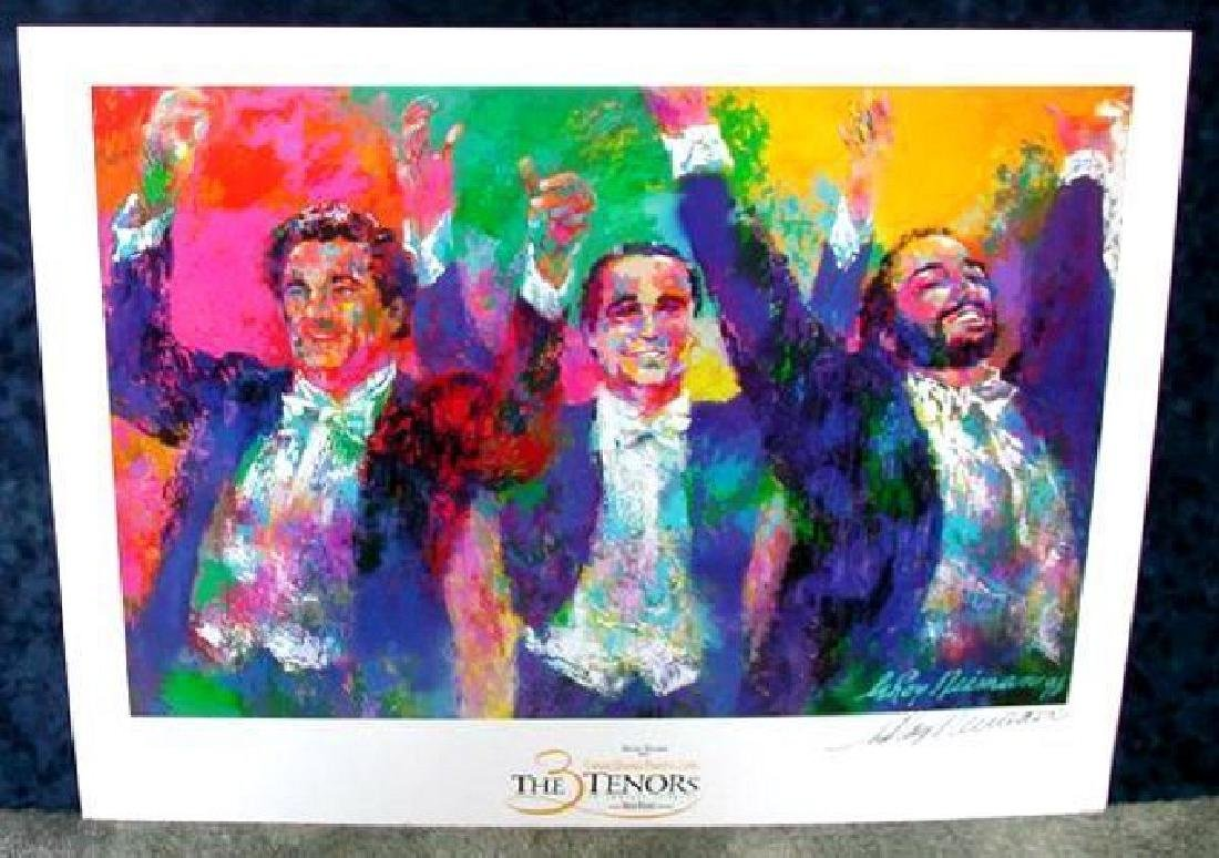 Hand Signed LeRoy Neiman: Three Tenors
