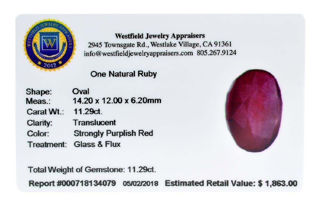 APP: 1.9k Extra Large Size 11.29CT Ruby Gemstone Very - 2