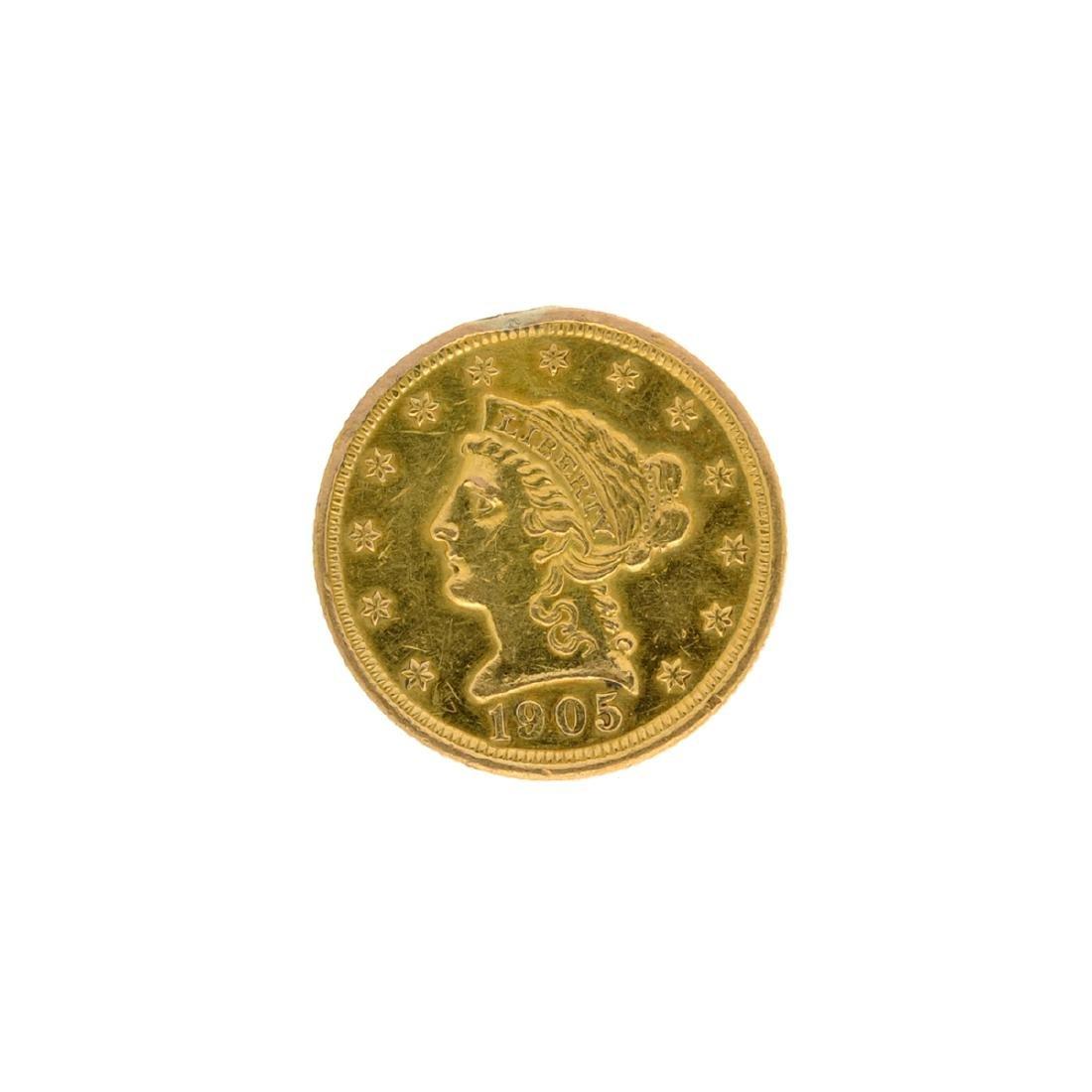 1905 $2.50 U.S. Liberty Head Gold Coin