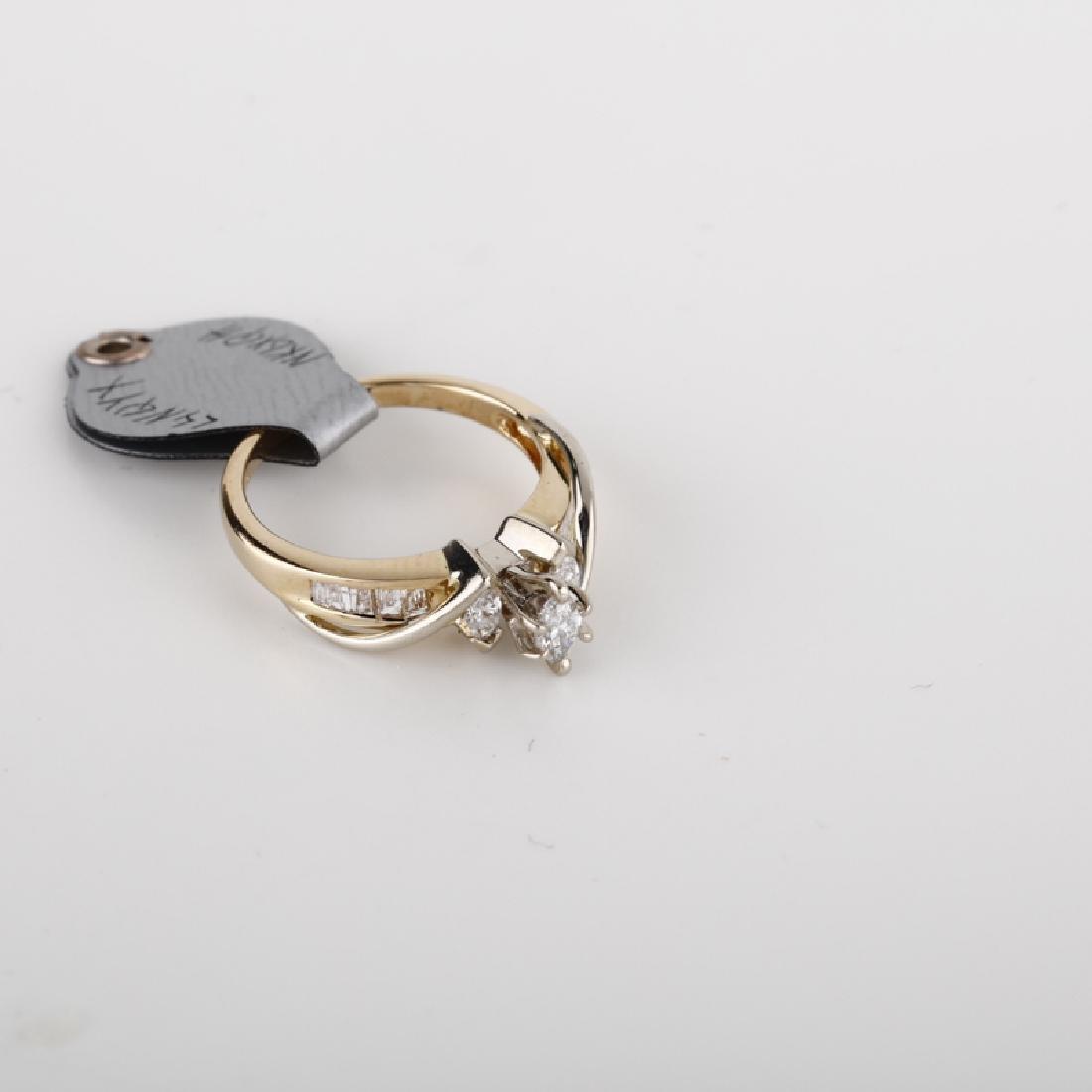 *Fine Jewelry 14 KT Gold, 0.50CT Diamond Ring (FJ F293)