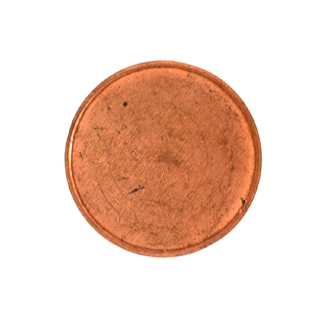 Mint U.S. 1 Cent Blank Planchet Coin - 2