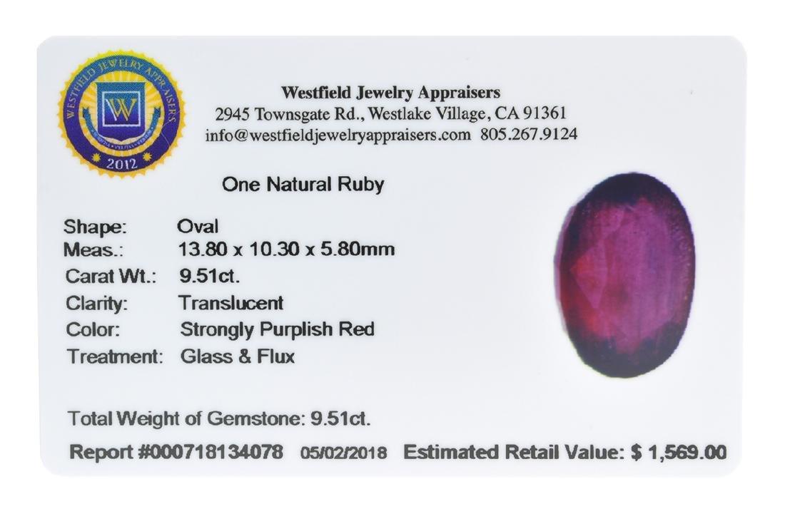 APP: 1.6k Extra Large Size 9.51CT Ruby Gemstone Very - 2