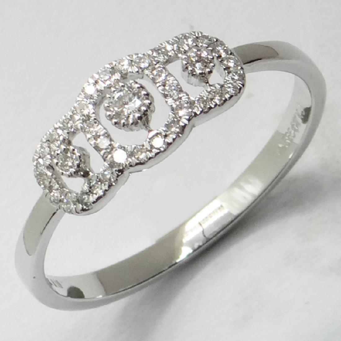 *Fine Jewelry 14 kt. White Gold, 0.18CT Round Cut - 2