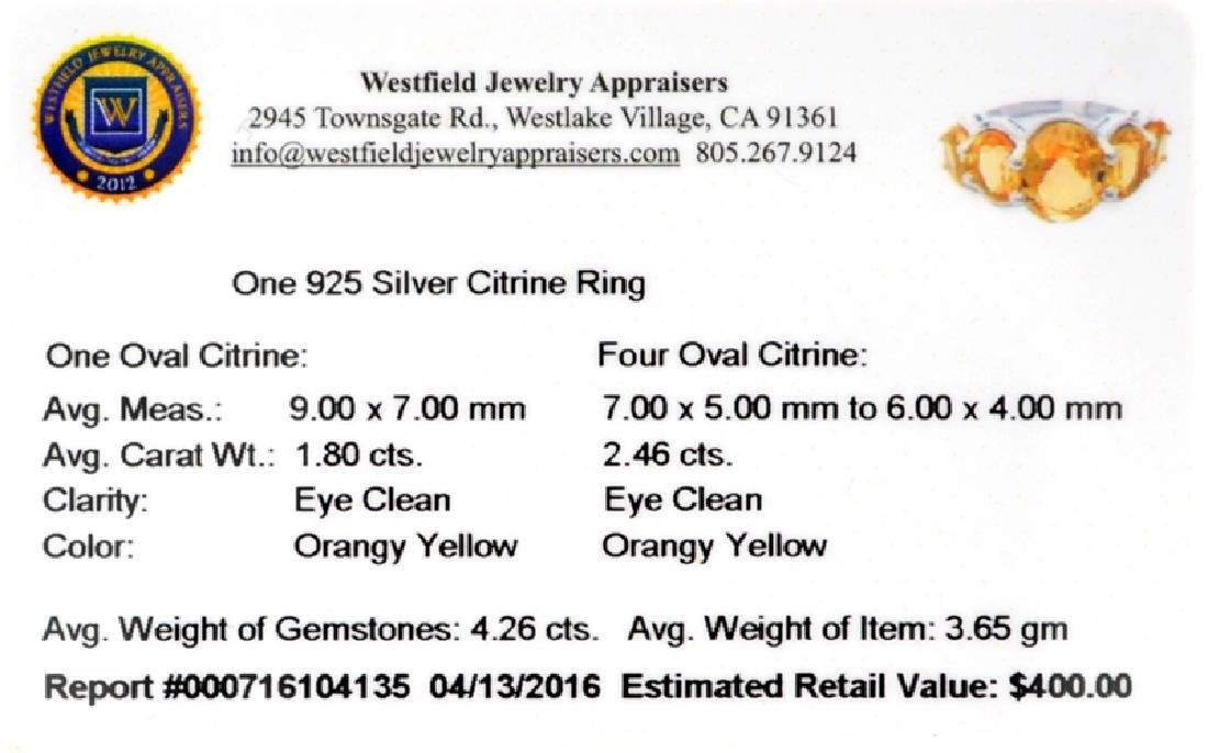 APP: 0.4k Fine Jewelry 4.26CT Oval Cut Citrine And - 2