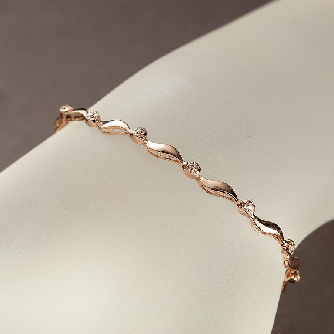 APP: 2.2k *Fine Jewelry 14 KT Rose Gold, 0.15CT Round