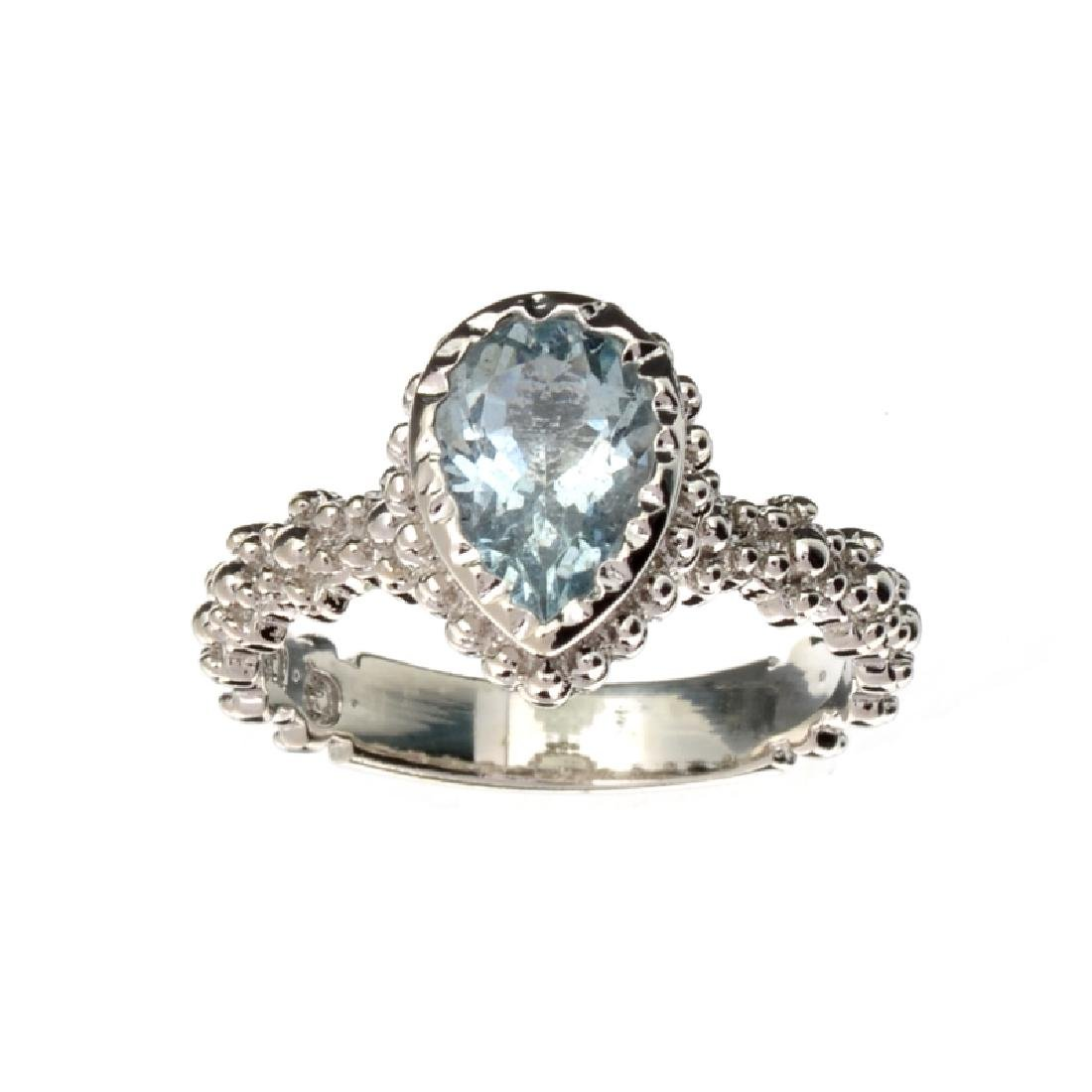 APP: 0.8k Fine Jewelry 1.50CT Pear Cut Aquamarine And