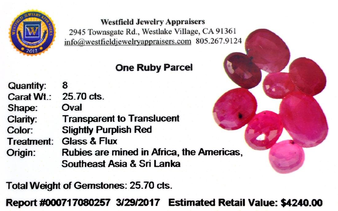APP: 4.2k 25.70CT Oval Cut Ruby Parcel - 2