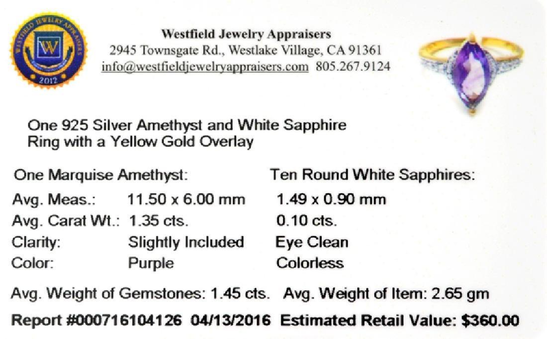 Fine Jewelry 1.45CT Purple Amethyst And White Sapphire - 2