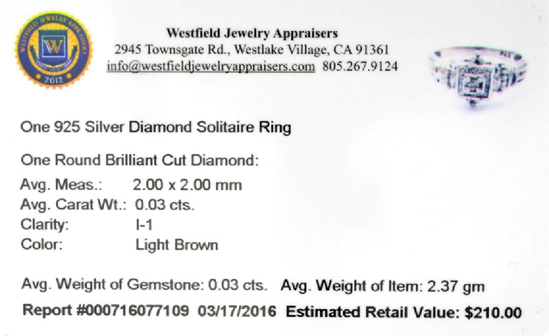 APP: 0.2k Fine Jewelry 0.03CT Round Brilliant Cut - 2