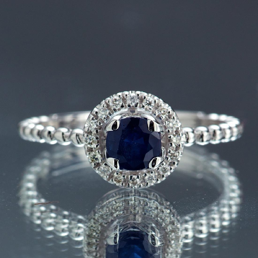 *Fine Jewelry 14 KT White Gold, 0.64CT Round Brilliant