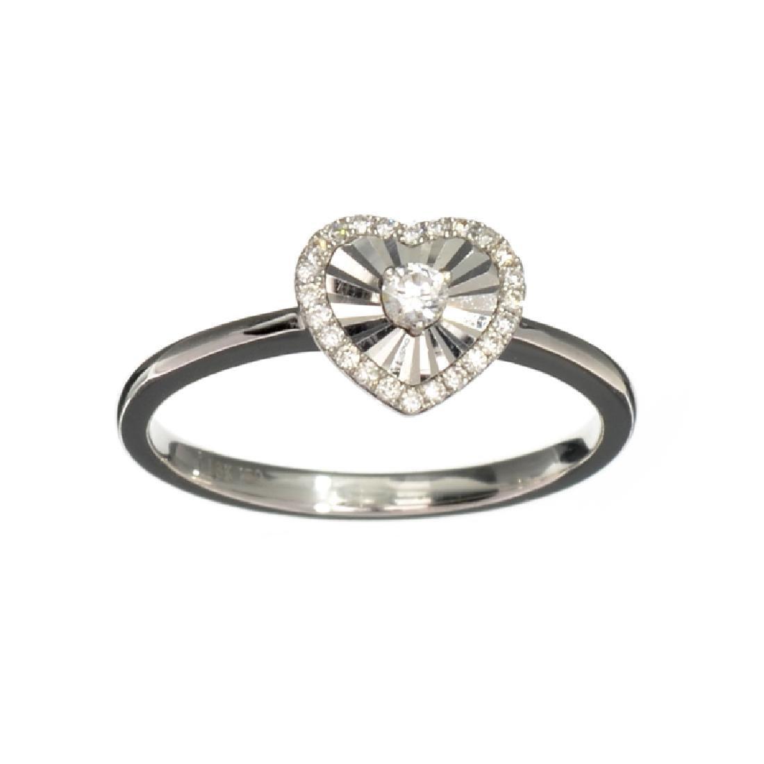 APP: 1.3k Fine Jewelry 18KT White Gold, 0.06CT Round