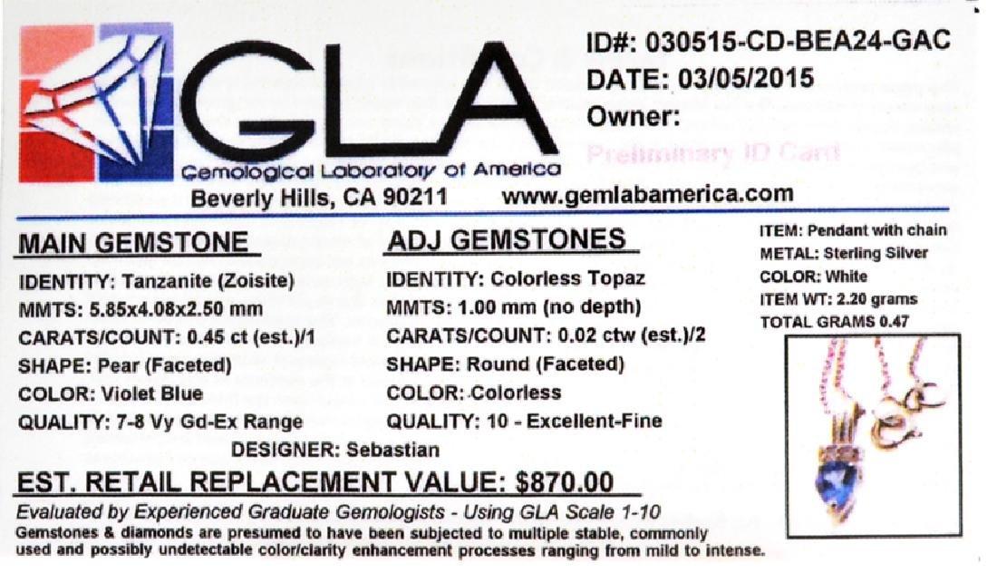 Fine Jewelry Designer Sebastian 0.45CT Tanzanite And - 2