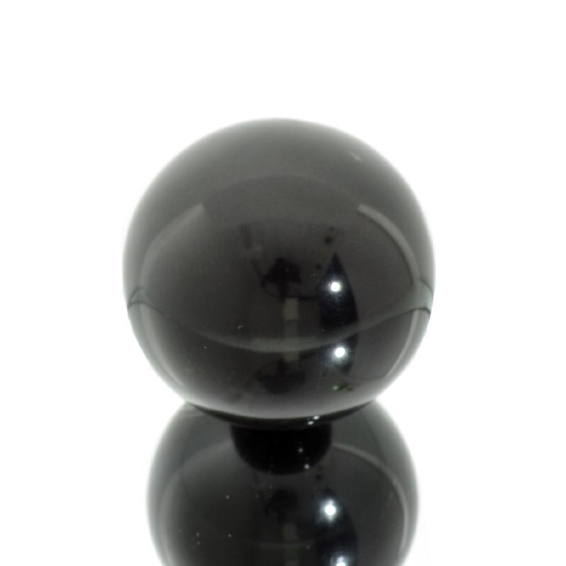 APP: 1.4k Rare 1,026.50CT Sphere Cut Black Agate