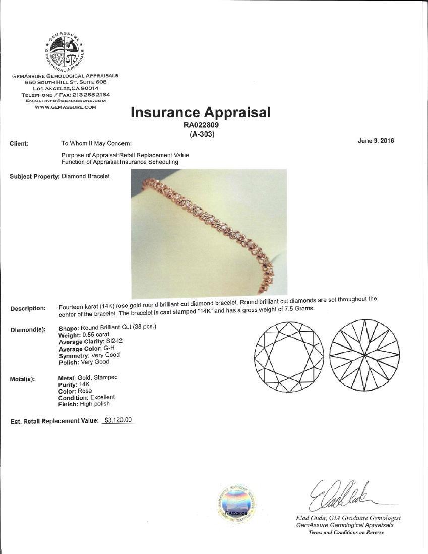 APP: 3.1k *Fine Jewelry 14 KT Rose Gold, 0.55CT Round - 2