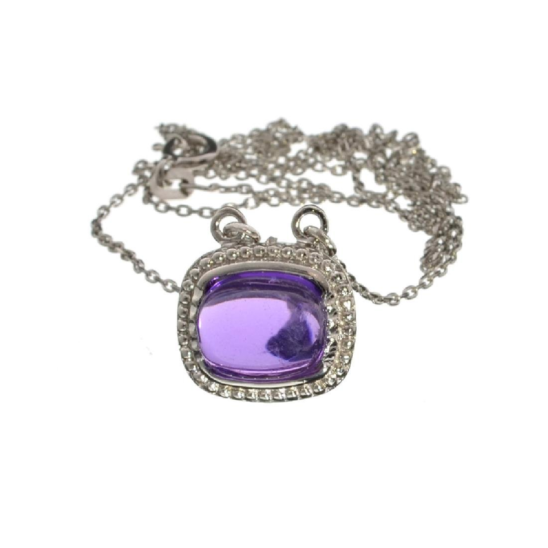 APP: 0.6k Fine Jewelry 3.91CT Cabochon Purple Amethyst