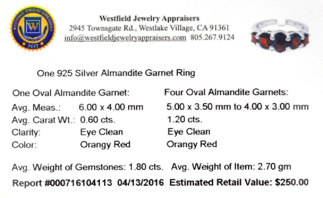 APP: 0.2k Fine Jewelry 1.80CT Alamandite Garnet And - 2