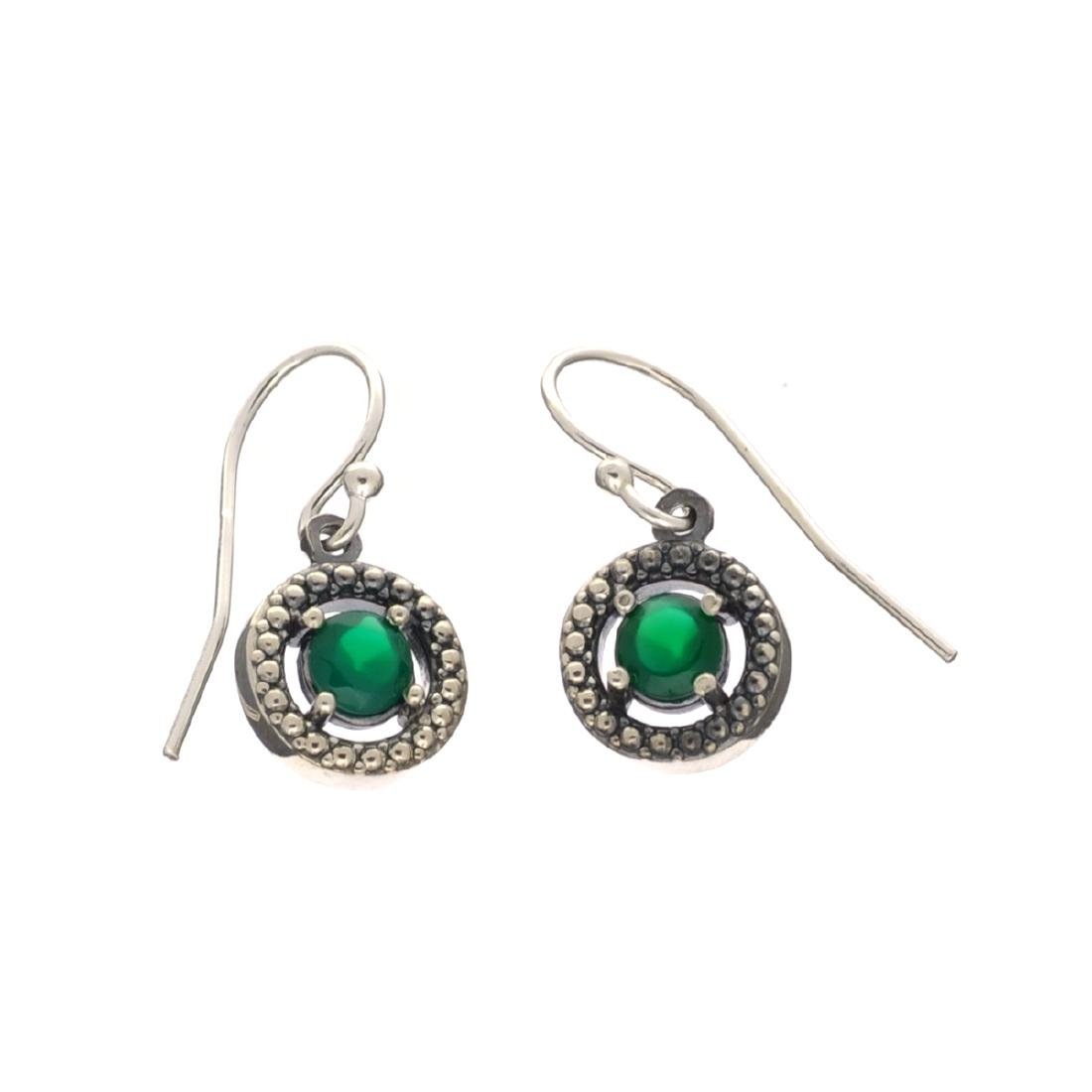 Rare Designer Sebastian Vintage, Emerald And Sterling
