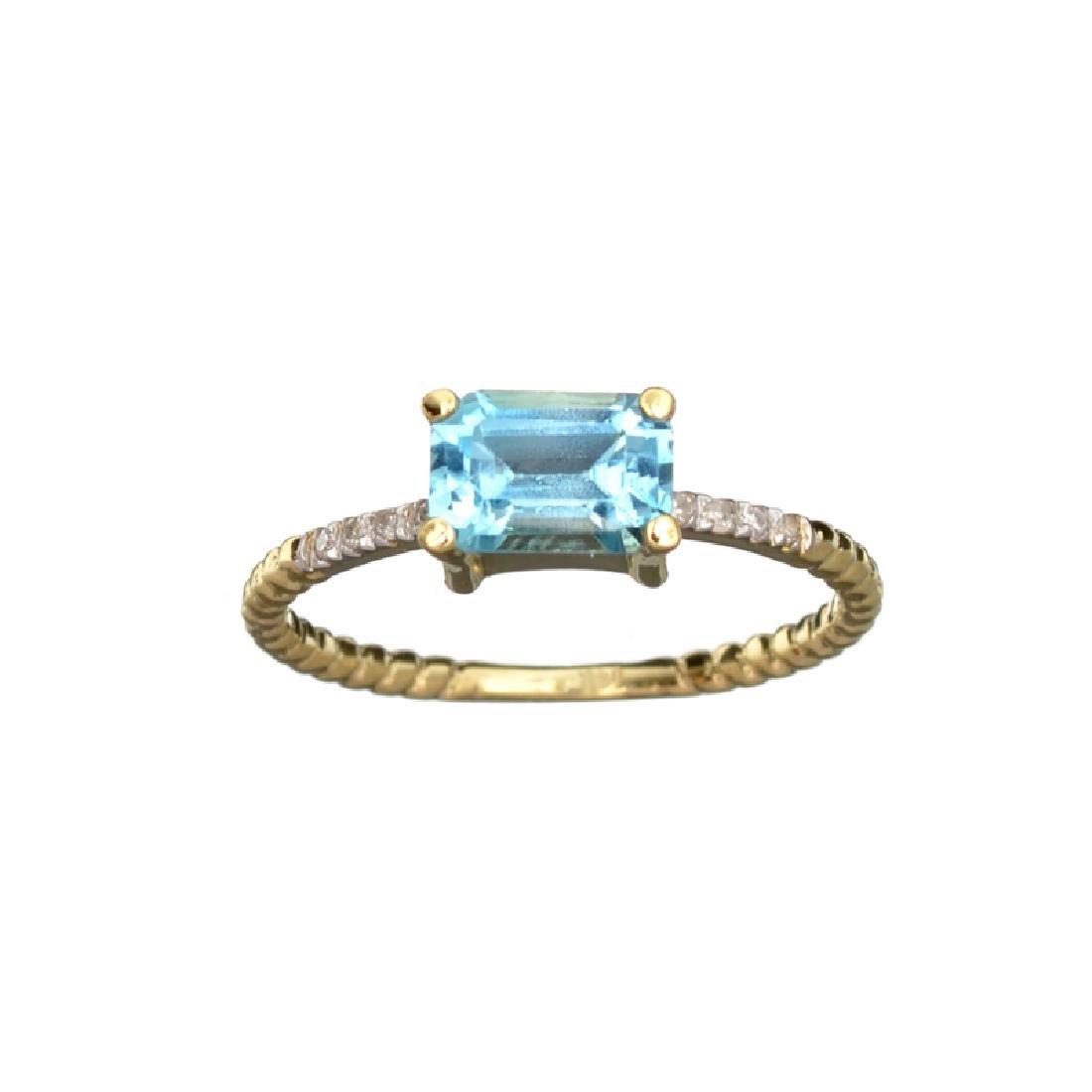 APP: 0.7k Fine Jewelry 14 KT Gold, 1.38CT Blue Topaz