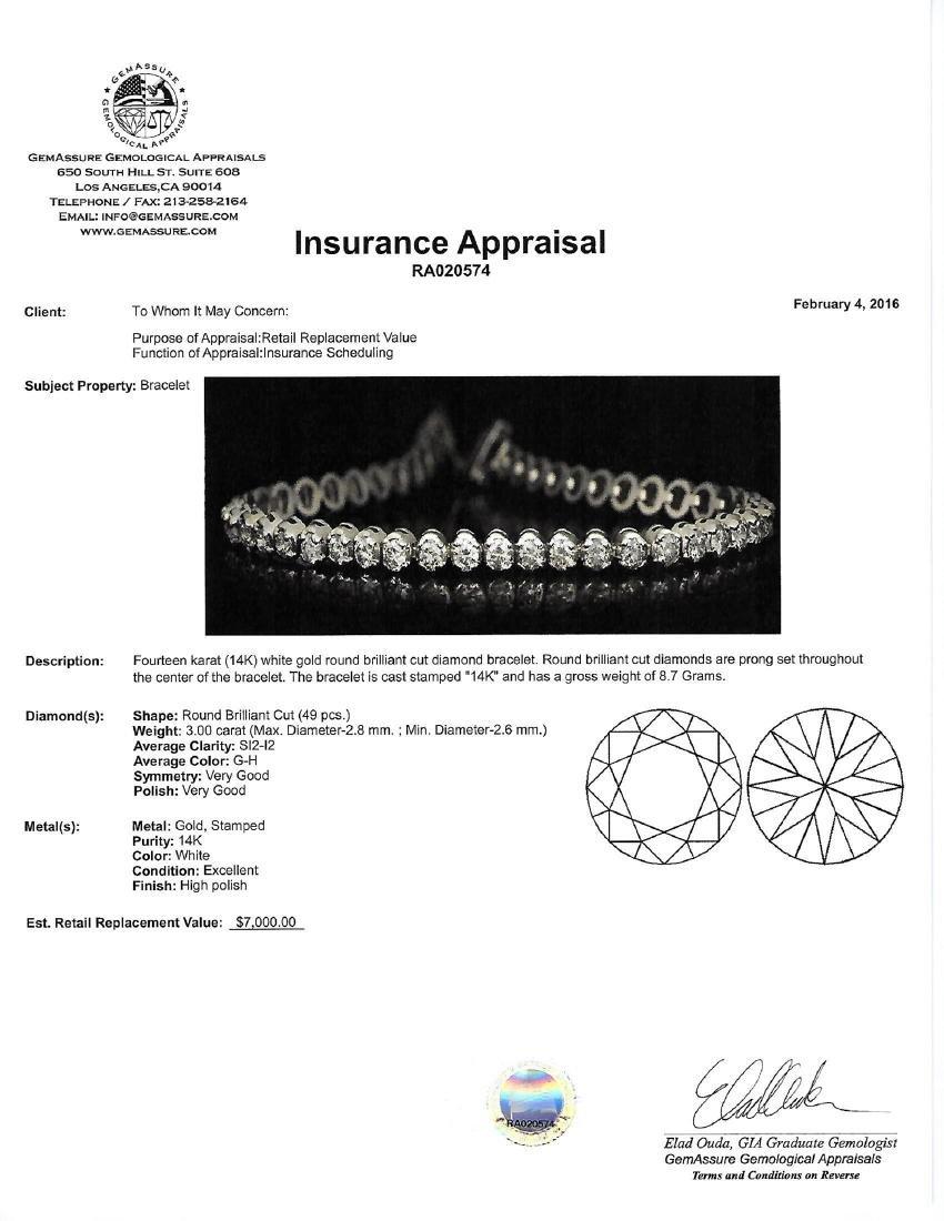 APP: 7k *Fine Jewelry 14 KT White Gold, 3.00CT Round - 2