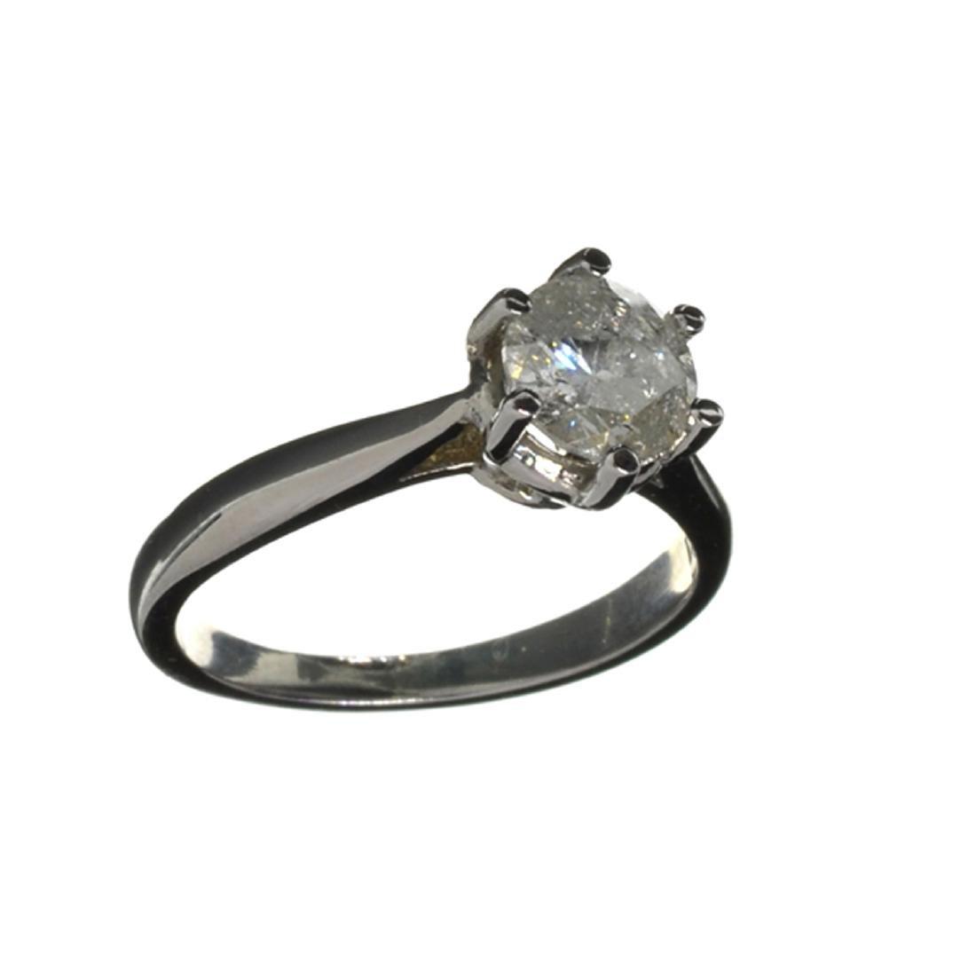 APP: 5.4k 14 kt. White Gold, 0.96CT Round Cut Diamond