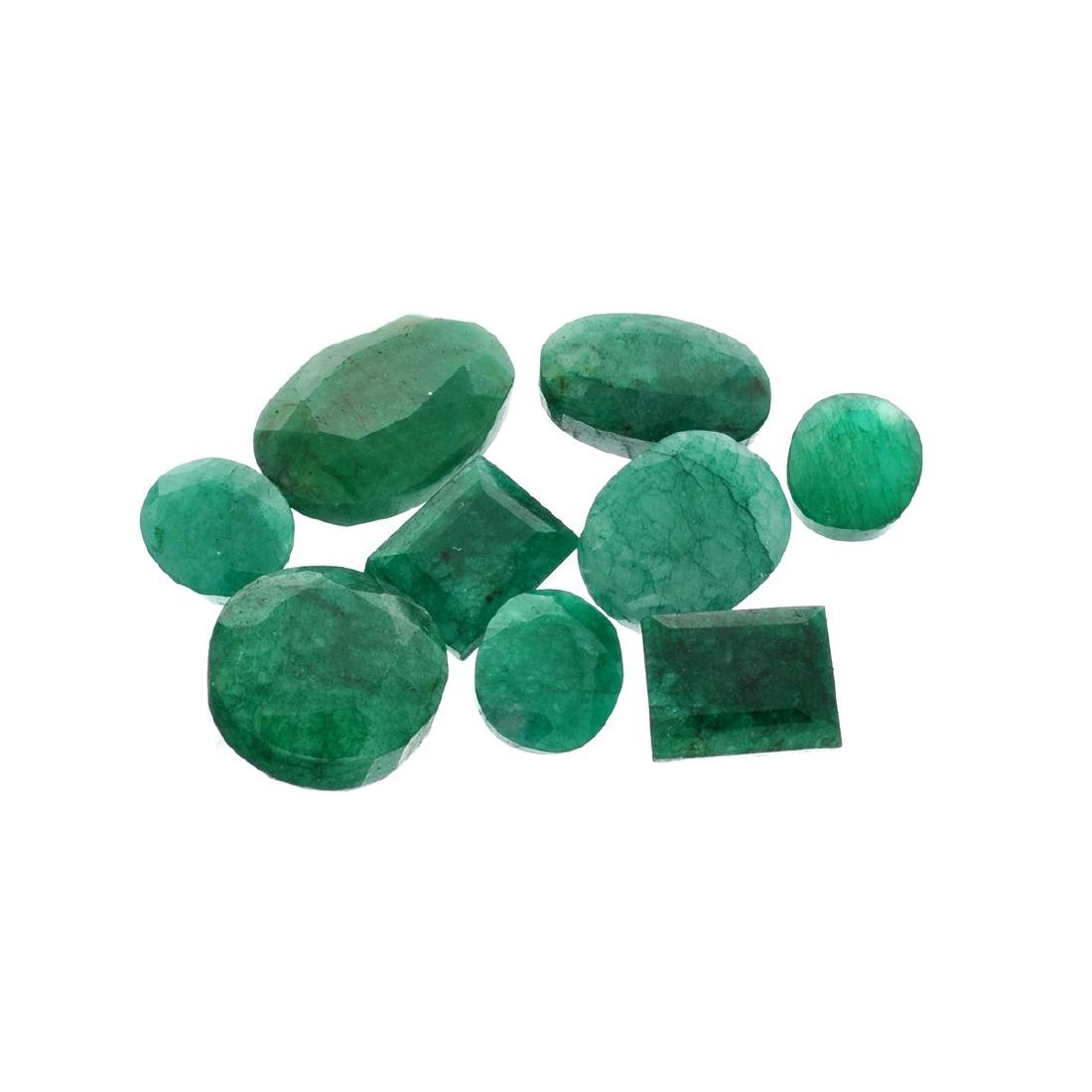 APP: 7.6k 100.78CT Various Shapes Green Emeral Parcel-