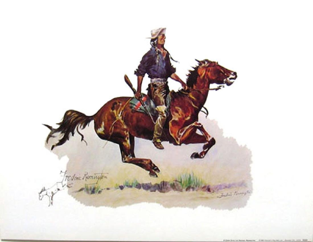 FREDERIC REMINGTON (After) A Crow Scout Print, 16'' x