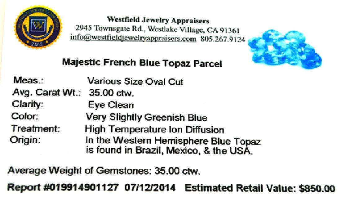 APP: 0.8k 35.00CT Oval Cut Majestic French Blue Topaz - 2