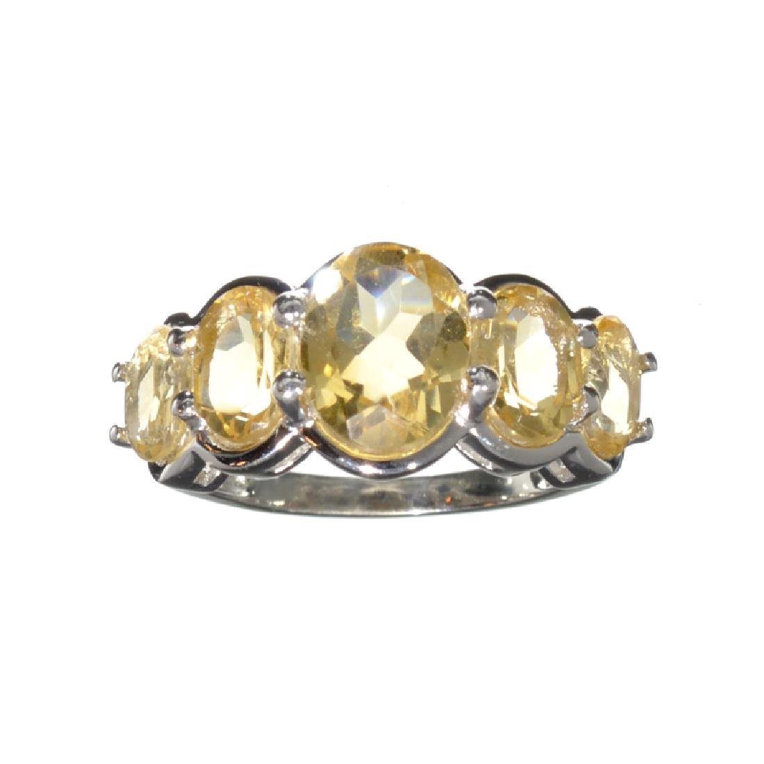 APP: 0.4k Fine Jewelry 4.26CT Oval Cut Citrine And