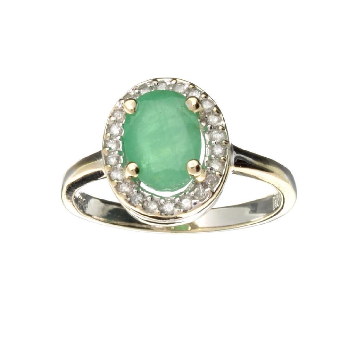 APP: 3k Fine Jewelry 14 KT White Gold 1.40CT Green