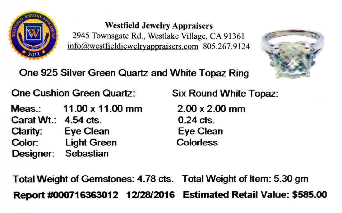 APP: 0.6k Fine Jewelry Designer Sebastian, 4.78CT Green - 2