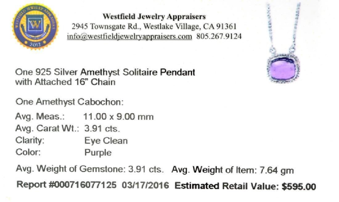 APP: 0.6k Fine Jewelry 3.91CT Cabochon Cut Purple - 2