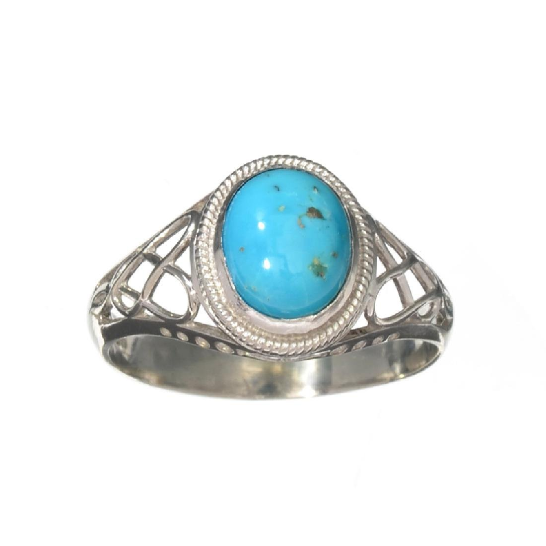 APP: 0.3k Fine Jewelry 1.94CT Cabochon Blue Turquoise