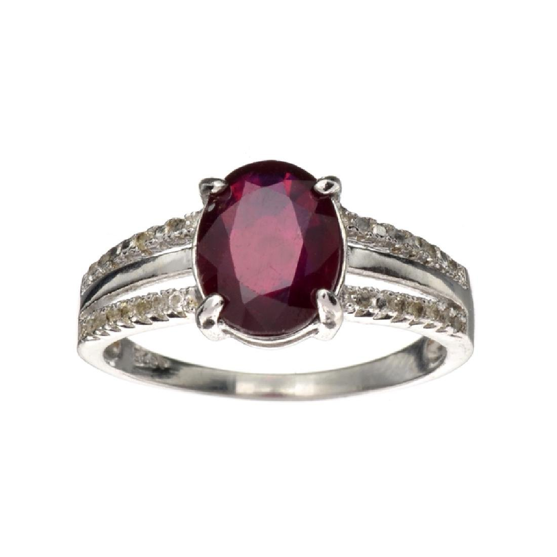 APP: 0.8k Fine Jewelry 2.15CT Ruby And Colorless Topaz