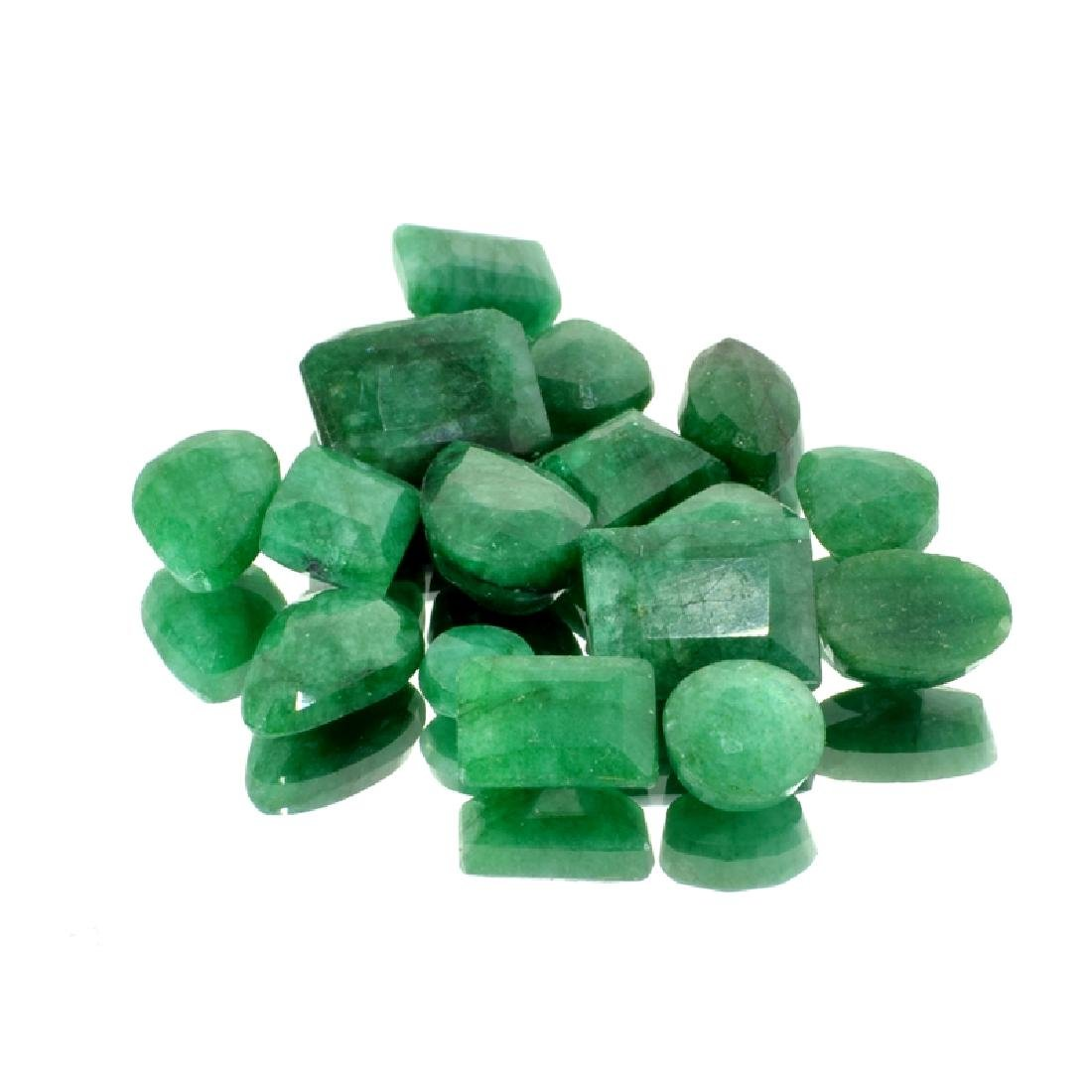 APP: 4.2k 55.50CT Mixed Cut Emerald Beryl Parcel