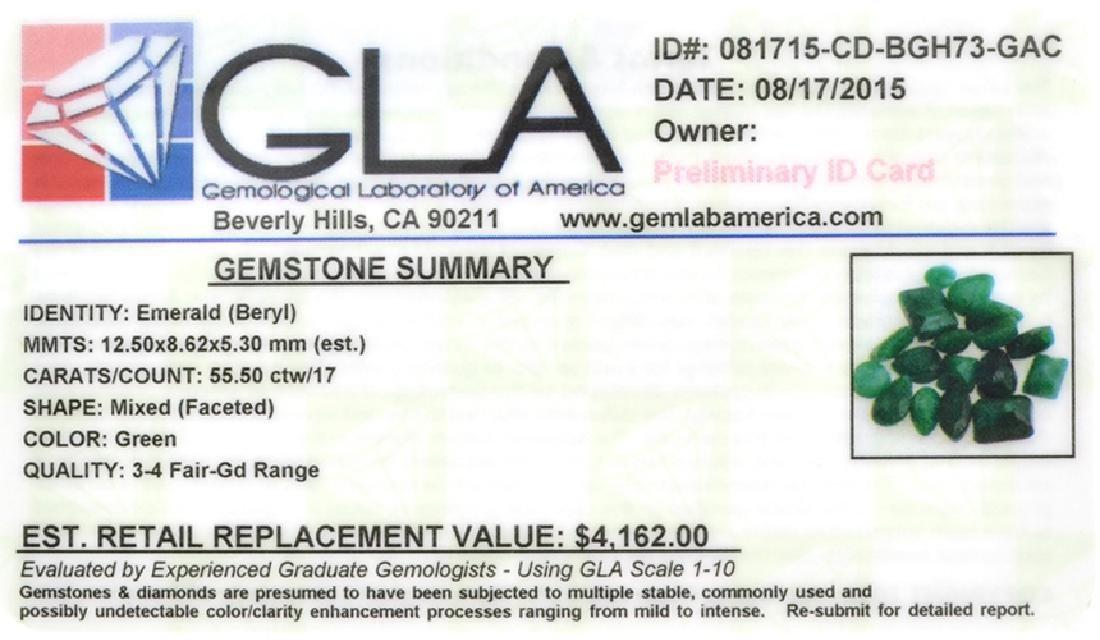 APP: 4.2k 55.50CT Mixed Cut Emerald Beryl Parcel - 2