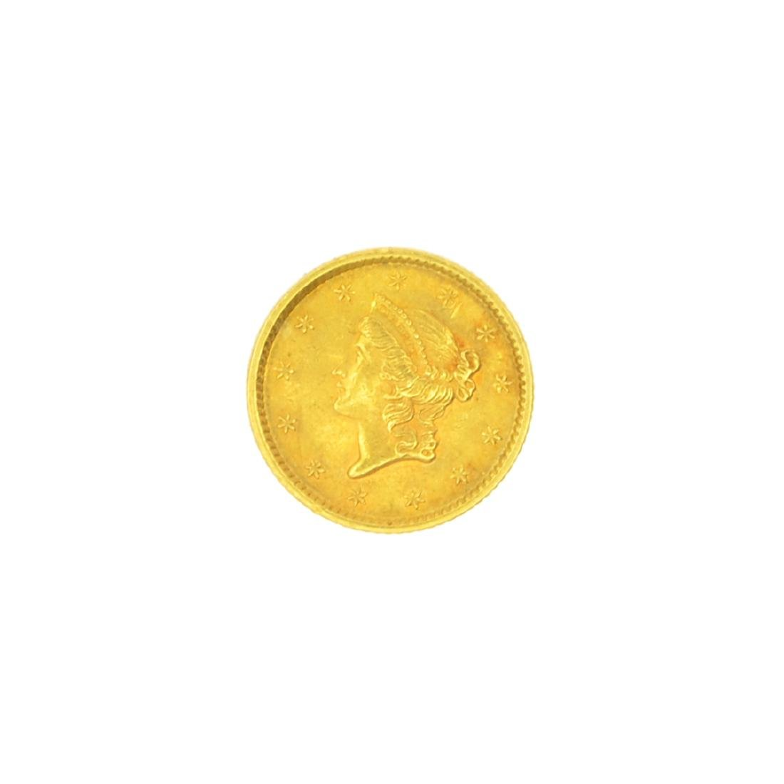 Very Rare 1852 $1 U.S. Liberty Head Gold Coin Great