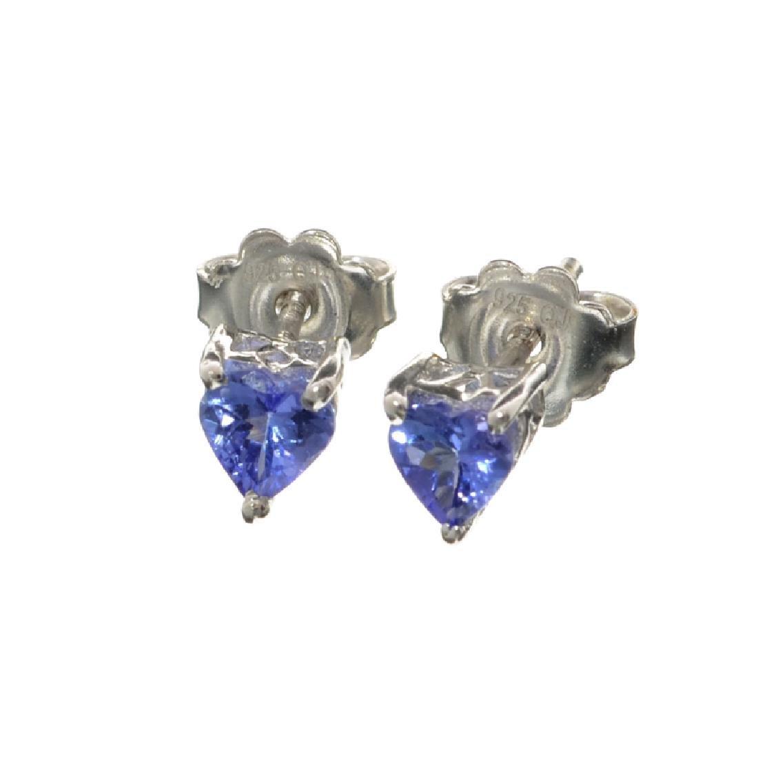 APP: 1k Fine Jewelry 1.20CT Heart Cut Tanzanite And