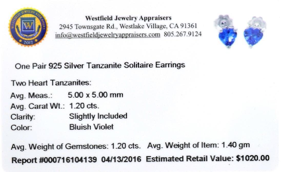 APP: 1k Fine Jewelry 1.20CT Heart Cut Tanzanite And - 2