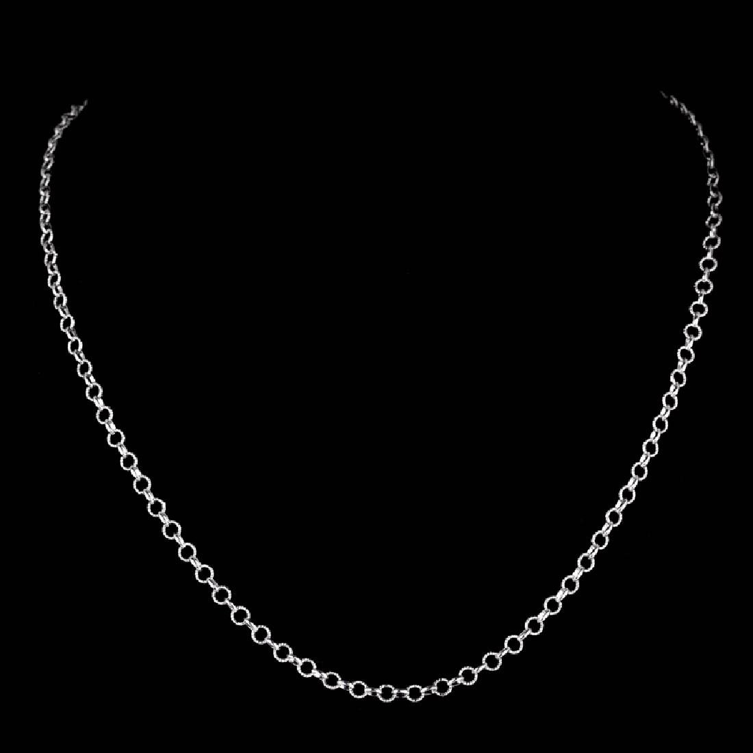 *Fine Jewelry 14 KT White Gold, 5.0GR, 18'' Twisted