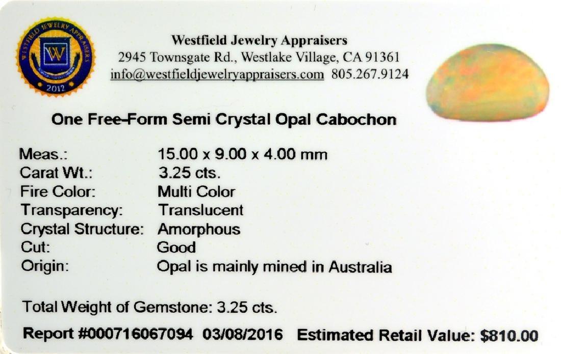 APP: 0.8k 3.25CT Free-Form Cabochon Multi Color Semi - 2