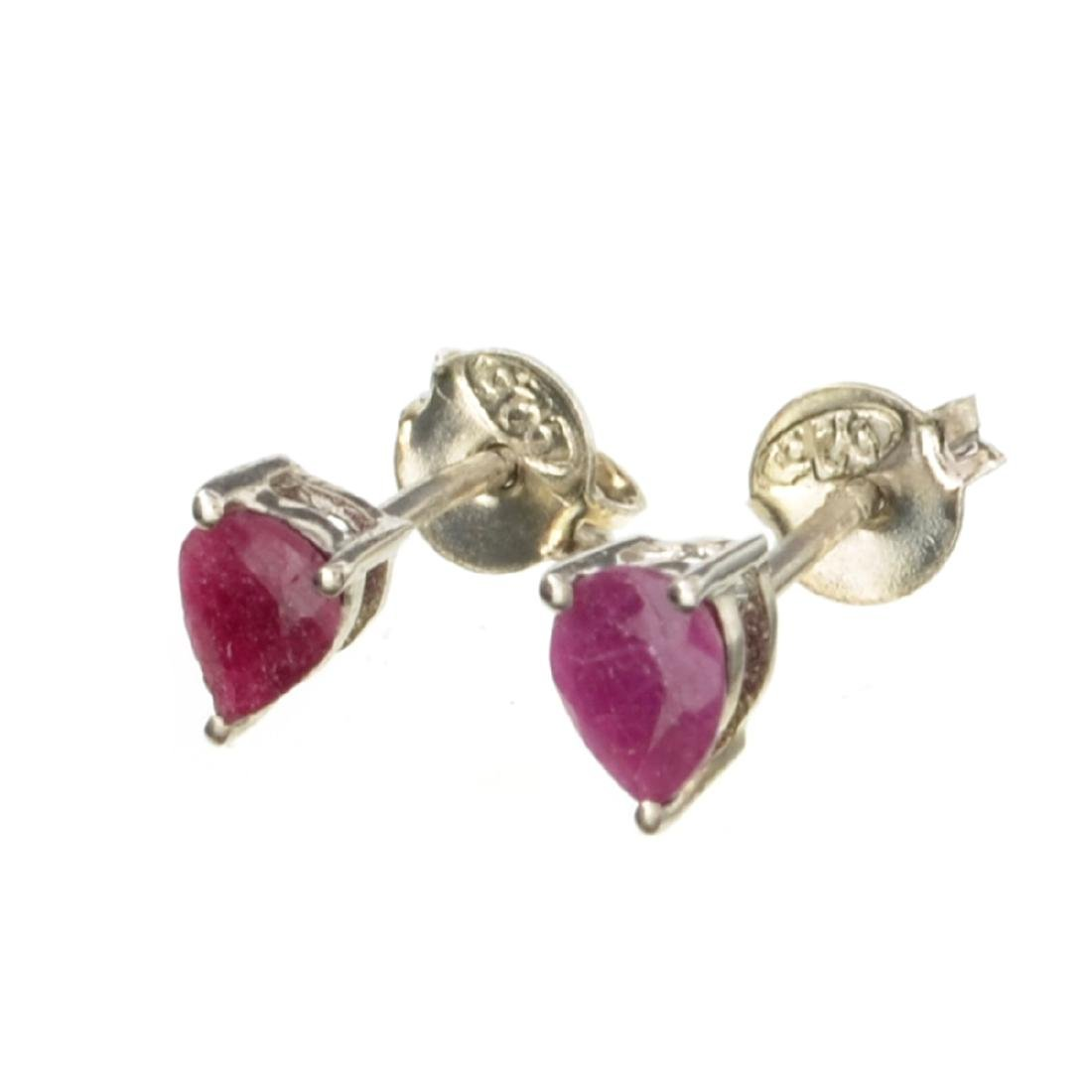 APP: 0.2k Fine Jewelry 0.90CT Pear Cut Ruby And