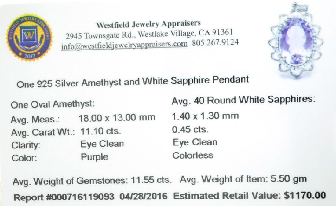 APP: 1.2k Fine Jewelry 11.55CT Purple Amethyst And - 2