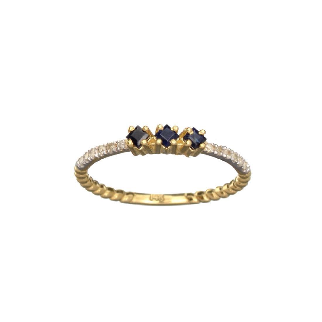APP: 0.7k Fine Jewelry 14 KT Gold, 0.24CT Blue Sapphire