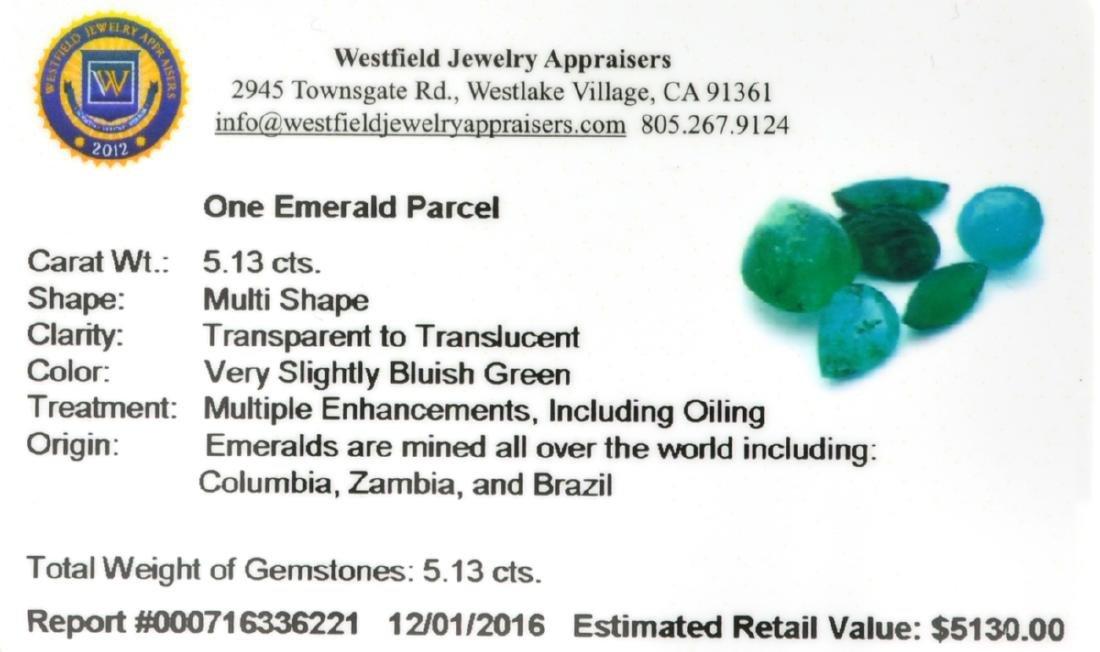 APP: 5.1k 5.13CT Multi Shape Emerald Parcel - 2